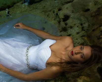 Trash the dress in Messico