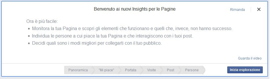 nuove facebook insights