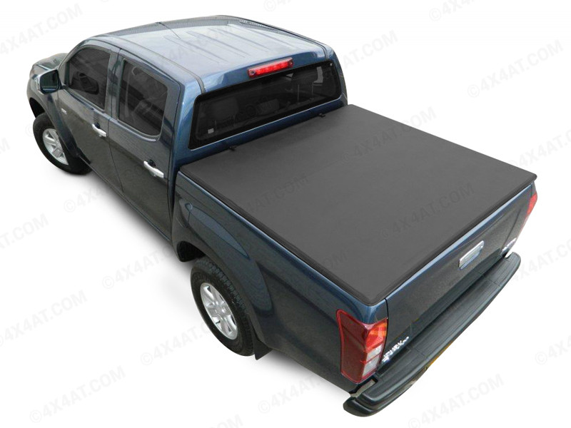 ford ranger double cab 1999 2011 with ladder rack soft tri folding tonneau cover