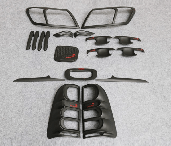 Toyota Hilux Vigo 2012 Matte Black Full Set Kits With Red
