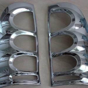 Chrome Cover Tail Light Lamp Trim Fit For Toyota Hilux SR5 MK6 Vigo 2005-2011