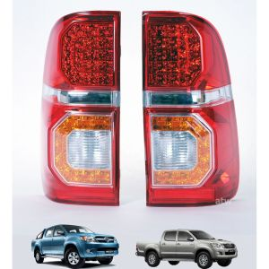 LED Smoked Lens Tail Light Lamp Fit Toyota Hilux MK7 Vigo Champ Pickup 2011-2014