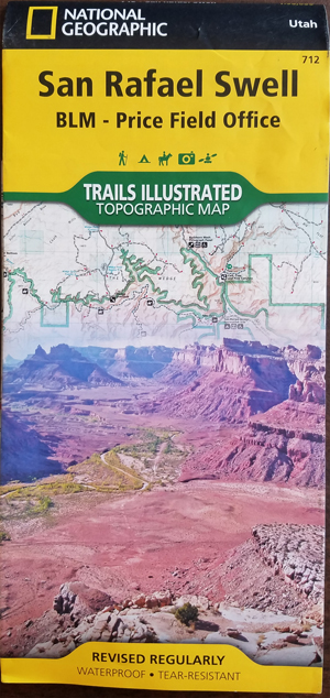 San Rafael Swell Off Road Guide Book & Companion Map on bryce canyon road map, mojave desert road map, four corners road map, washington road map, goblin valley road map, utah road map, moab road map, united states road map, zion road map, mesa verde national park road map, arizona road map,