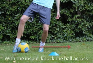 Two touch dribble step 2, 5-a-side skill, Michael Laudrup Skill