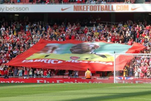 Everyone united in support for Muamba, not more so than at the club where he first made his debut - Arsenal