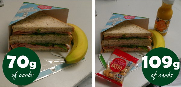 Sandwich and Banana