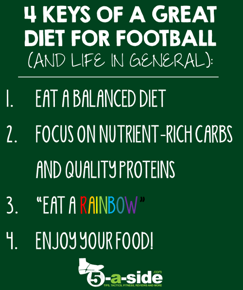 4 Keys to a Helthy Diet for Football