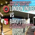 London United Futsal 7 Dec
