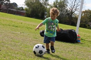 Football skills boy