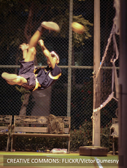 Takraw Player Volley