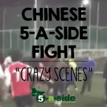 Chinese 5-a-side Fight: Players in Arsenal Shirts go Crazy