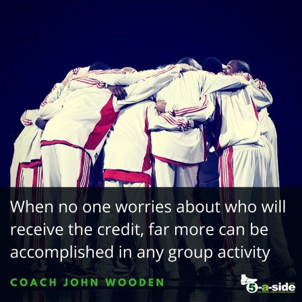 Coach John Wooden Teamwork Quote