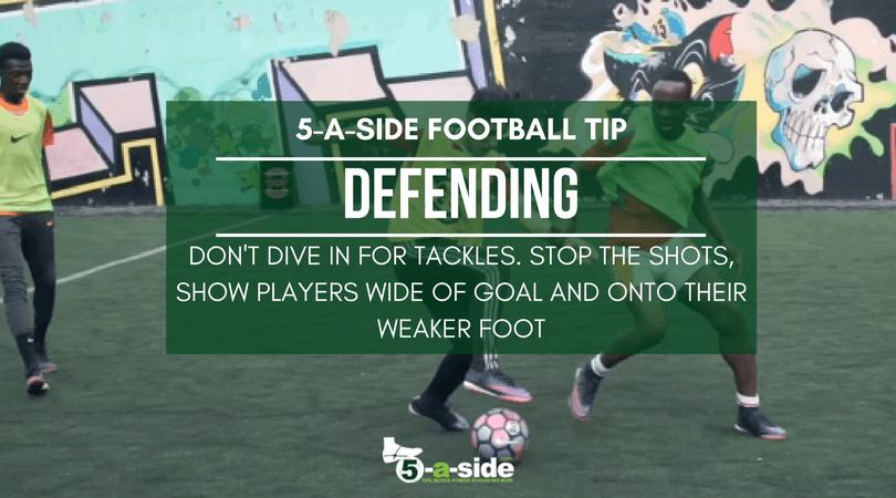 5 a side defending football