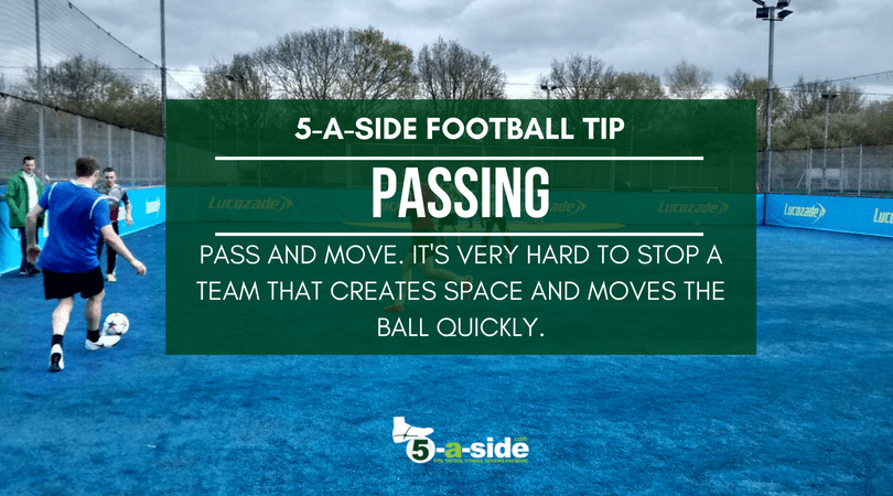 5 a side passing tips and technique