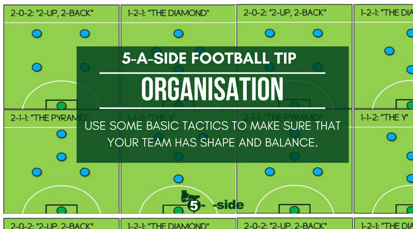 organisation 5 a side tactics