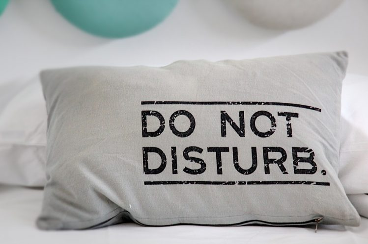 Do not disturb relaxing