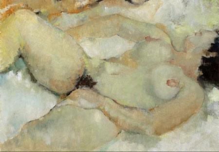 """""""No couché IV"""" (1965) Huile sur toile 92 X 65 Collection particulière, Paris"""