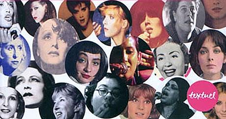 Détail de la couverture du livre « Les Femmes de la chanson », Editions Textuel