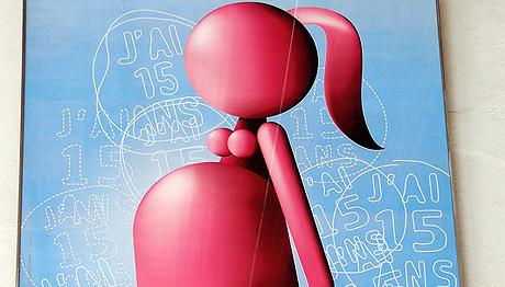 Détail de l'affiche d'un centre de planification © Jean Drapp