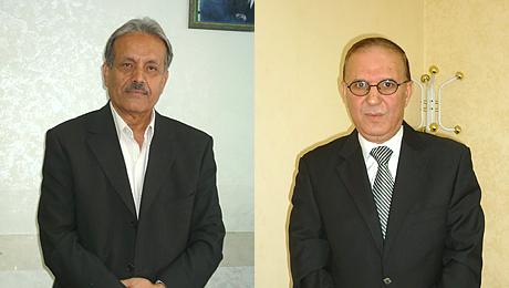 A gauche, Fathalla Emrani, à droite, Khaled Habahbeh.