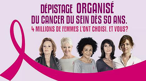 Détail de la campagne 2010 pour le dépistage du cancer du sein