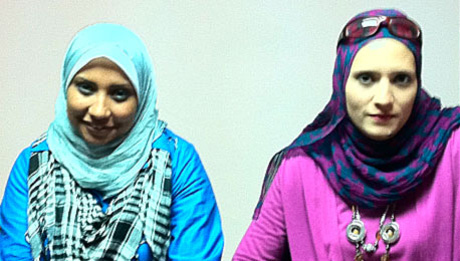 Marwa Choura, à gauche, et Charimaa Ahmed.