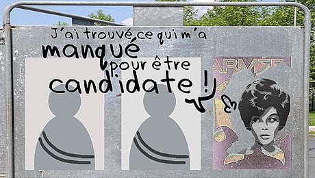 Visuel de la campagne «Faisons de la parité une réalité», d'Osez le féminisme.