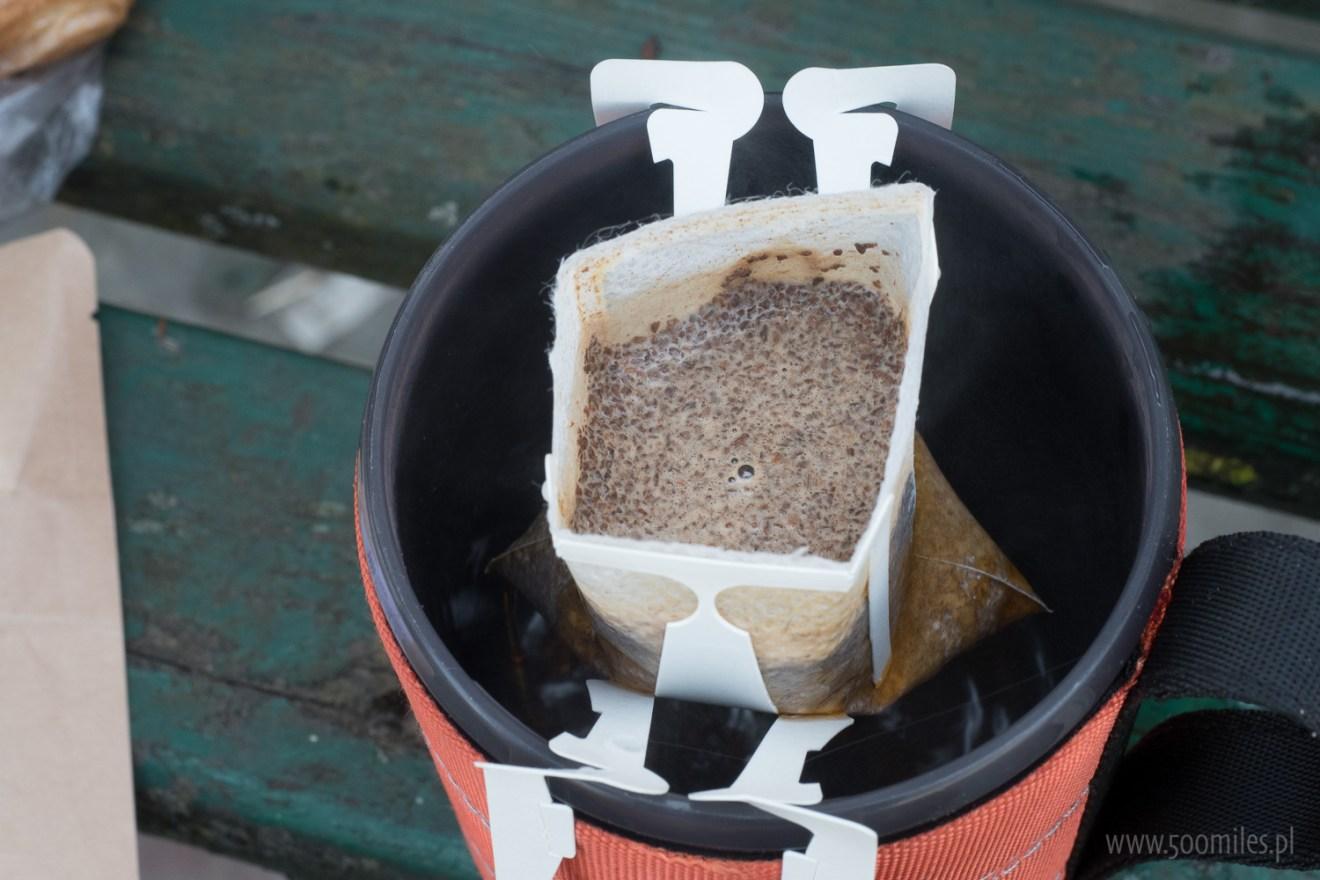 Jednorazowe papierowe dripy Kawa w terenie