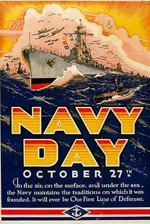 Navy Day poster, early 1940s
