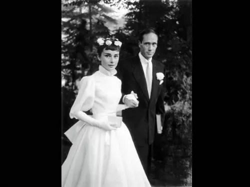 Com o primeiro marido, Mel Ferrer, com quem teve um filho