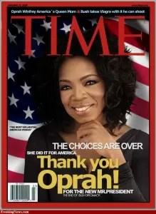 Capa da prestigiosa revista Time