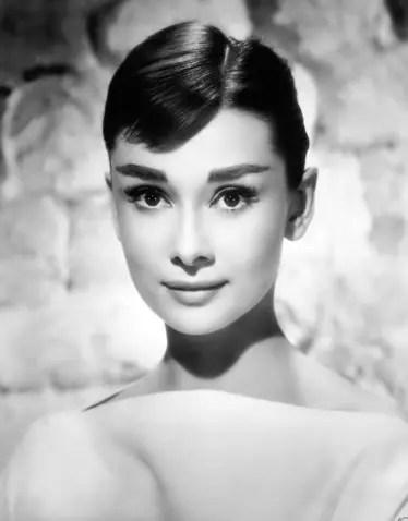 A verdadeira Audrey, que morreu em 199