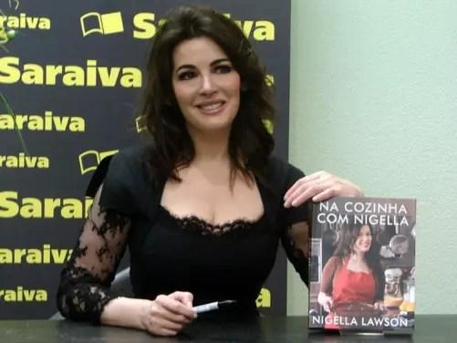 Na noite de autógrafos, na Livraria Saraiva, em São Paulo