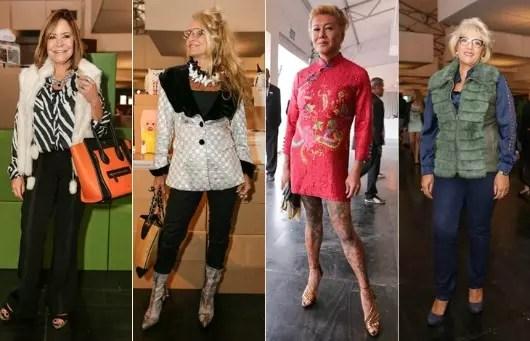 Mulheres que já passaram dos 50 anos na Semana da Moda de São Paulo