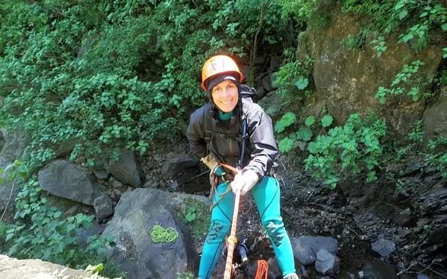 Beatriz Azevedo, 59, apaixonou-se pelo canionismo