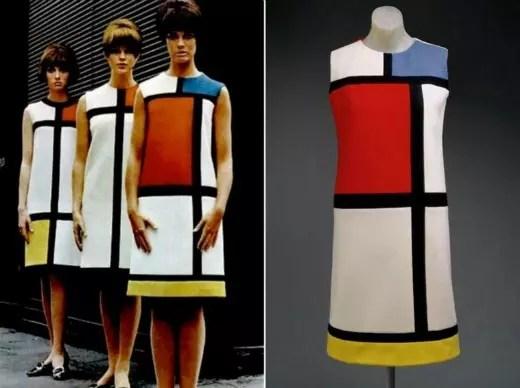 Os famosos vestidos inspirados na obra de Mondrian