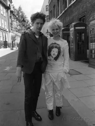 Com o marido Malcolm, em 1977