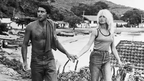 Com Bob Zaguri, em Búzios, no verão de 1962