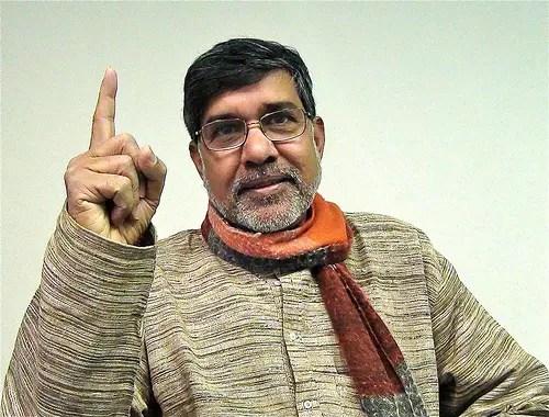 O indiano Kailash Satyarthi, 60 anos, luta contra o trabalho infantil