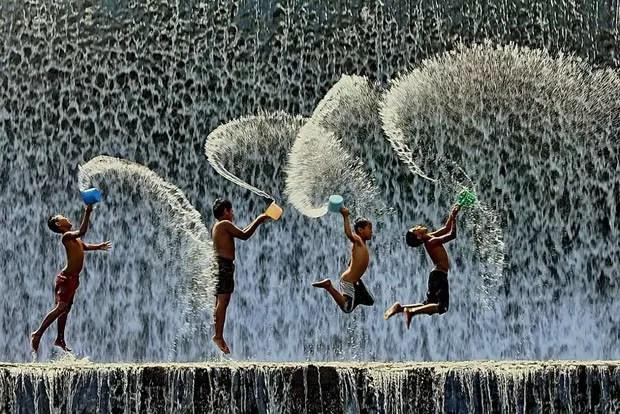 A alegria de viver é grande