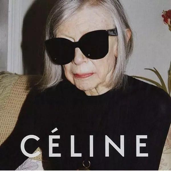 A escritora Joan Didion, 80, foi a escolhida da grife Céline
