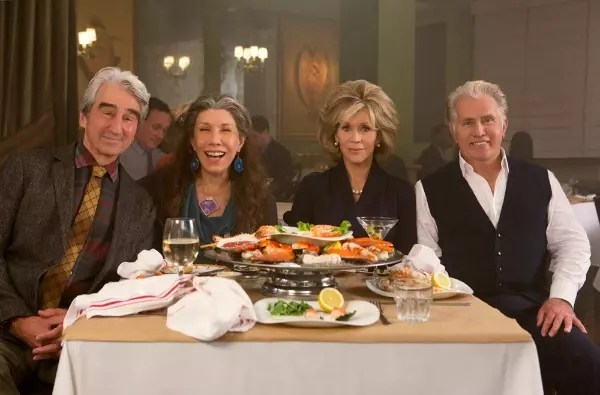 Sam Waterston, Lily Tomlin, Jane Fonda e Martin Sheen