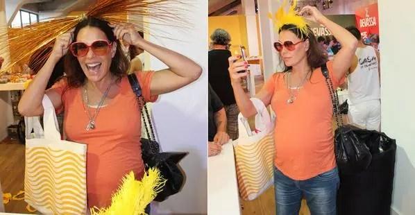 Aos 46, a atriz Carolina Ferraz está no sétimo mês de gravidez