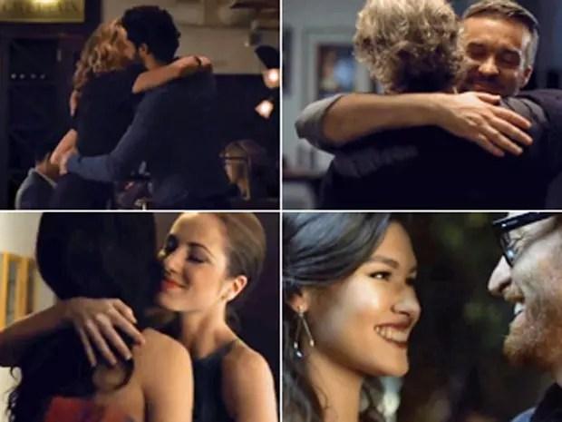 Comercial mostra casais homossexuais e heterossexuais se abraçando
