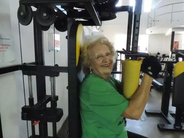 Judith Figueiredo faz musculação três vezes por semana