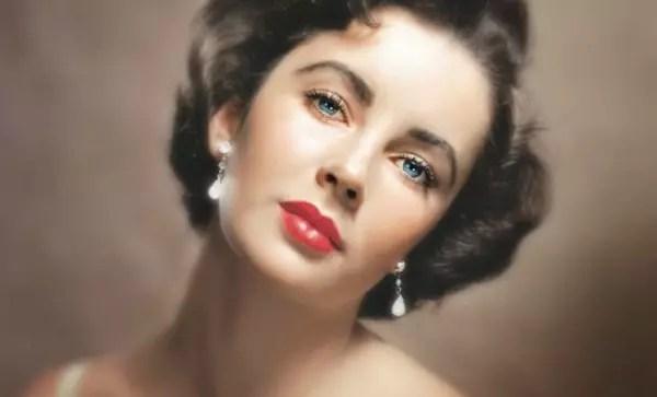 Elizabeth Taylor, uma das atrizes que ajudaram a celebrizar o batom