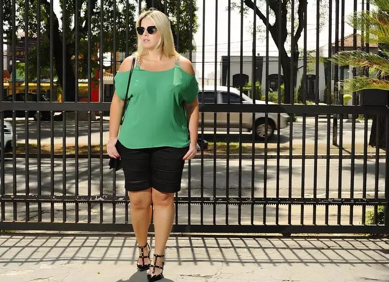 Eu já vestia tamanho 48 e me sentia segura, diz ela -photo: Hilton Costa