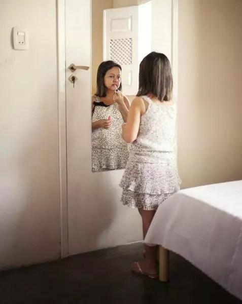 Aldileide Francisaca De Santana, 36 anos, 1,25m. Aldileide nunca tirou fotos, está foi a primeira vez que deixou que a fotografassem