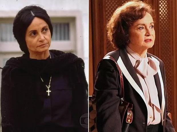 A atriz em dois momentos: como Perpétua, em Tieta (1989), e na novela Boogie oogie, exibida ano passado