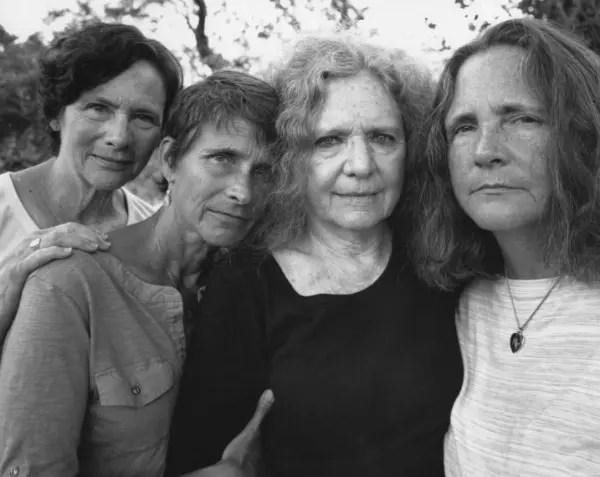 As quatro fotografadas em 2014, 40 anos depois da primeira foto